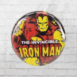Logoshirt Comic Anstecker Iron Man Marvel Button