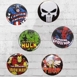 Logoshirt Comic Anstecker Marvel Mix Set Button