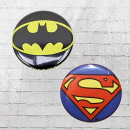 Logoshirt Comic Anstecker Set DC Batman V Superman Buttons