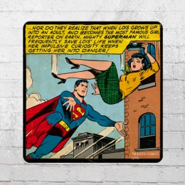 Logoshirt Comic Coaster DC Superman Save Lois Life Untersetzer