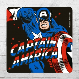 Logoshirt Comic Untersetzer 6er Pack Marvel Captain America Coaster