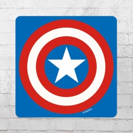 Logoshirt Comic Untersetzer 6er Pack Marvel Captain America Shield Coaster