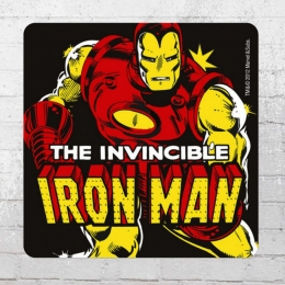 Logoshirt Comic Untersetzer Coaster Marvel Iron Man