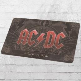 Logoshirt Frühstücksbrett AC DC Black Ice schwarz rot