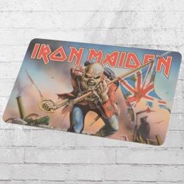 Logoshirt Frühstücksbrett Iron Maiden Eddy Flag bunt