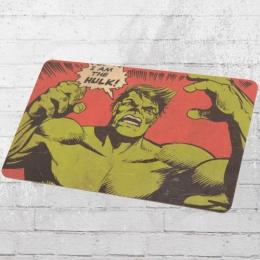 Logoshirt Frühstücksbrett Marvel Comic I Am the Hulk rot grün