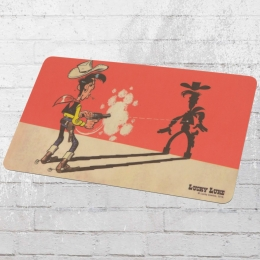 Logoshirt Frühstücksbrettchen Lucky Luke Faster Than His Shadow bunt