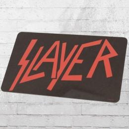Logoshirt Frühstücksbrettchen Slayer Logo schwarz rot