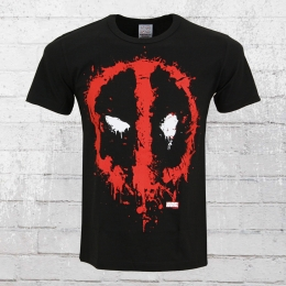 Logoshirt Herren T-Shirt Marvel Deadpool schwarz