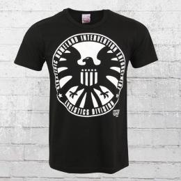 Logoshirt Herren T-Shirt Marvel SHIELD Logo schwarz