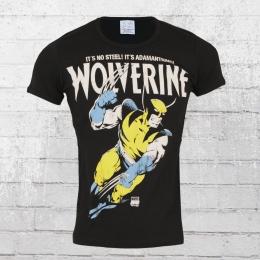 Logoshirt Herren T-Shirt Marvel Wolverine Adamantium schwarz