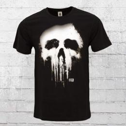 Logoshirt Herren T-Shirt Punisher New Skull schwarz