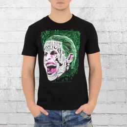 Logoshirt Herren T-Shirt Suicide Squad Joker schwarz