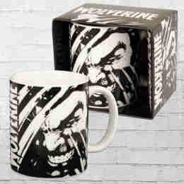 Logoshirt Kaffeebecher Tasse Wolverine schwarz