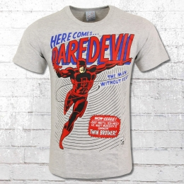Logoshirt Männer T-Shirt Marvel Daredevil grau meliert