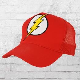 Logoshirt Mesh Trucker Cap DC Flash Logo gestickt rot