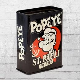 Logoshirt Sparbüchse Popeye St. Pauli Spardose schwarz