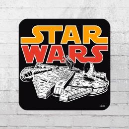 Logoshirt Star Wars Millenium Falcon Coaster Untersetzer schwarz bunt