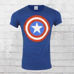 Logoshirt T-Shirt Männer Marvel Captain America Shield royal blau XXL