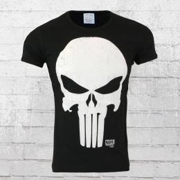 Logoshirt T-Shirt Männer Marvel Punisher schwarz