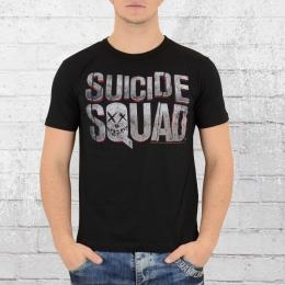 Logoshirt T-Shirt Männer Suizide Squad schwarz
