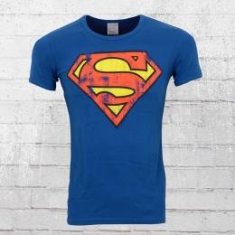 Logoshirt T-Shirt Männer Superman Classic Logo blau