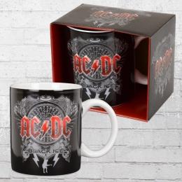 Logoshirt Tasse Mug AC DC Black Ice Kaffeebecher schwarz