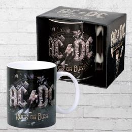 Logoshirt Tasse Mug AC DC Rock or Bust Kaffeebecher schwarz