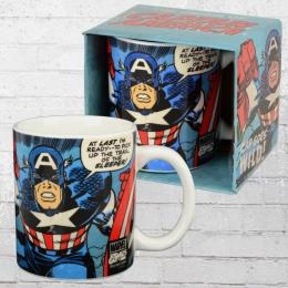 Logoshirt Tasse Mug Captain America Goes Wild Kaffeetasse hellblau
