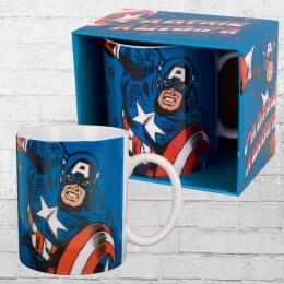 Logoshirt Tasse Mug Captain America Kaffeetasse blau