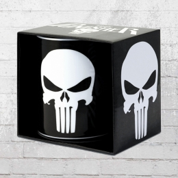 Logoshirt Tasse Mug Marvel The Punisher Logo Kaffeetasse schwarz