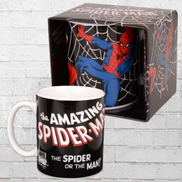 Logoshirt The Amazing Spiderman Kaffeetasse Mug schwarz