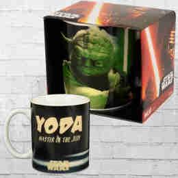 Logoshirt Tasse Mug Star Wars Yoda Kaffeetasse bunt