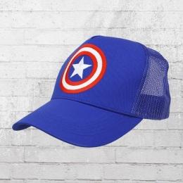 Logoshirt Trucker Cap Captain America Shield Logo gestickt blau