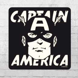 Logoshirt Untersetzer 6er Set Marvel Captain America Portrait Coaster schwarz