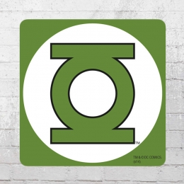 Logoshirt Untersetzer Coaster DC Green Lantern grün weiss