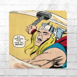 Logoshirt Untersetzer Coaster Marvel The Mighty Thor Son of Odin bunt