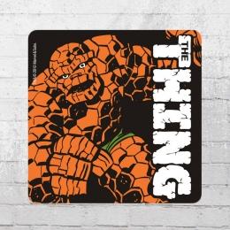 Logoshirt Untersetzer Coaster Marvel The Thing schwarz orange