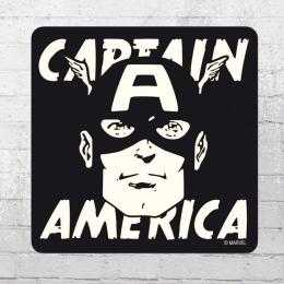 Logoshirt Untersetzer Marvel Captain America Portrait Coaster schwarz