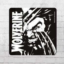 Logoshirt Untersetzer Marvel Wolverine Coaster schwarz weiss