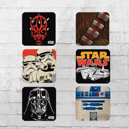 Logoshirt Untersetzer Mix Coaster Set Star Wars Icons multi