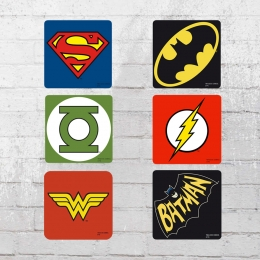 Logoshirt Untersetzer Set DC Comics Mix Coaster Justice League multi