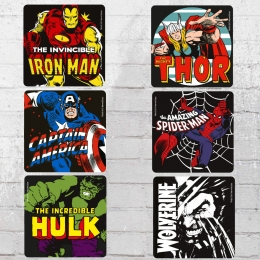 Logoshirt Untersetzer Set Mix Marvel Heroes Coaster multi