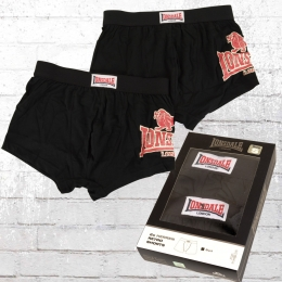 Lonsdale London 2er Pack Retro Boxer Shorts Leeds schwarz