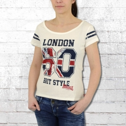 Lonsdale London Frauen T-Shirt Minehead ecru