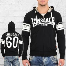 Lonsdale London Herren Kapuzenjacke Dunnert schwarz