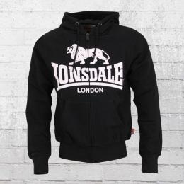 Lonsdale London Herren Kapuzenjacke Krafty schwarz