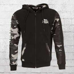 Lonsdale London Male Hooded Zip Jacket Lordship black camo