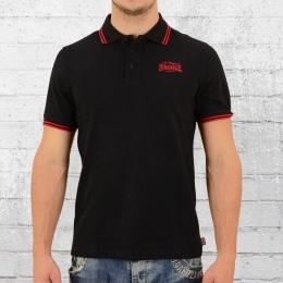Lonsdale London Herren Polo Shirt Bridlington schwarz rot