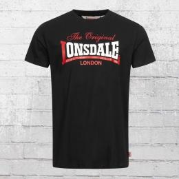 Lonsdale London Herren T-Shirt Aldingham schwarz